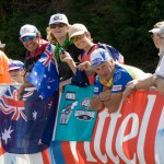 The Aussies were in high spirits