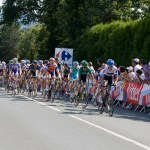 There was still a big group dropped by the strong pace and late crashes