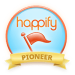 Happify Pioneer Badge