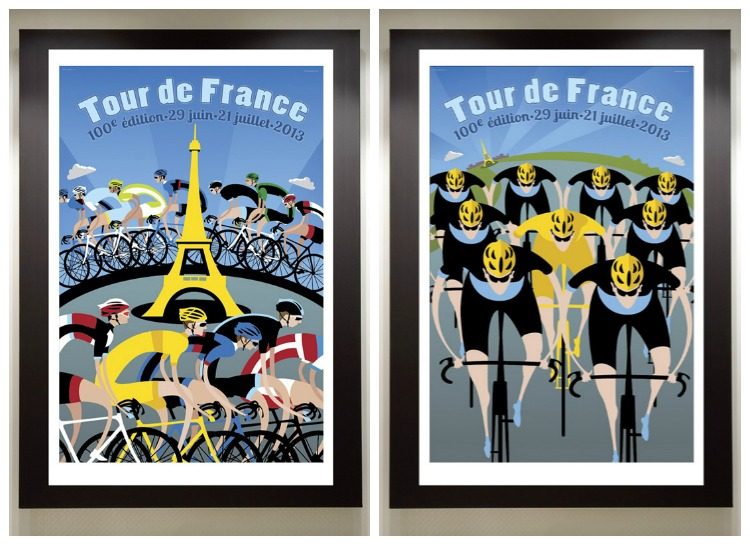 100th Edition Tour de France Poster