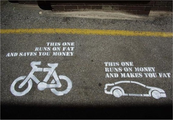 Cycling versus Driving