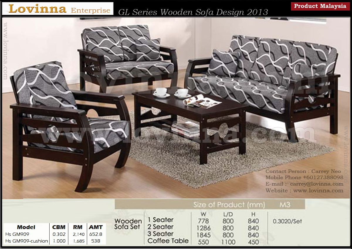 Sofa Set Price Wooden Lovinna Product Malaysia Wooden Sofa