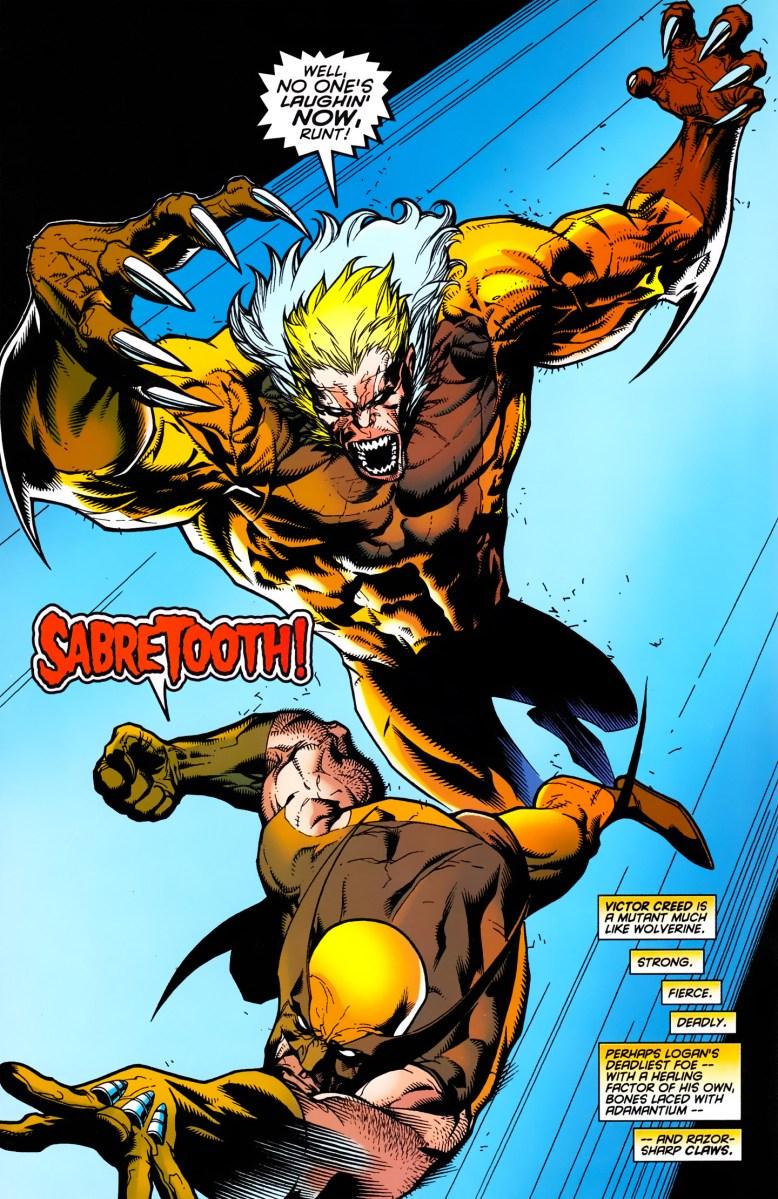 Power Girl Comic Wallpaper Wolverine Vs Sabertooth Wolverine Gets His Adamantium