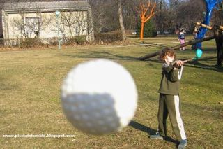 Golf Ball on the Way to Eye