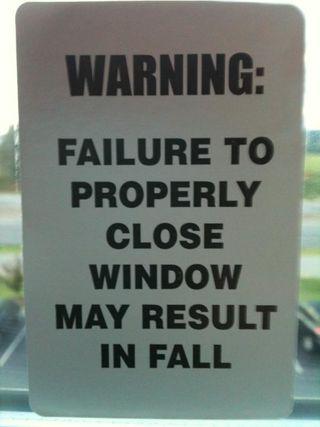 Window closure warning