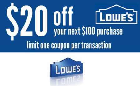 THREE (3X) Lowes $20 OFF $100 Printable Coupons _ In Store  Online