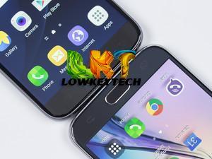 Galaxy S7 - left; Galaxy S6 right