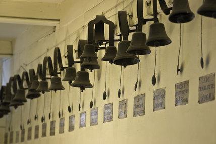 Domestic Animals Wallpaper Long Line Of Servants Bells In The Corridor Next To The