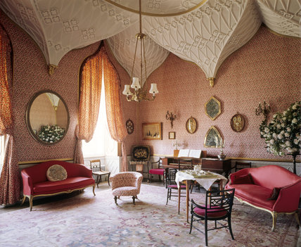 Domestic Animals Wallpaper The Gothic Boudoir Castle Ward Castle Ward At National Trust