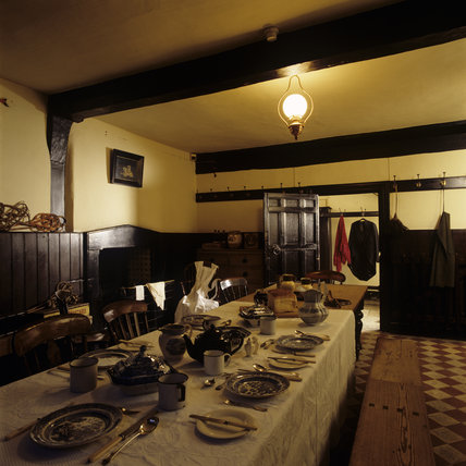 Domestic Animals Wallpaper The Interior Of The Servants Hall At Speke Hall With The