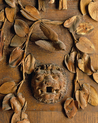 King 3d Name Wallpaper Detail Of Grinling Gibbons Carving At Petworth House