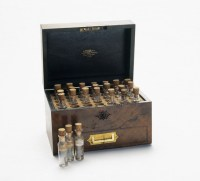 Walnut homeopathic medicine chest, late 19th century. by ...