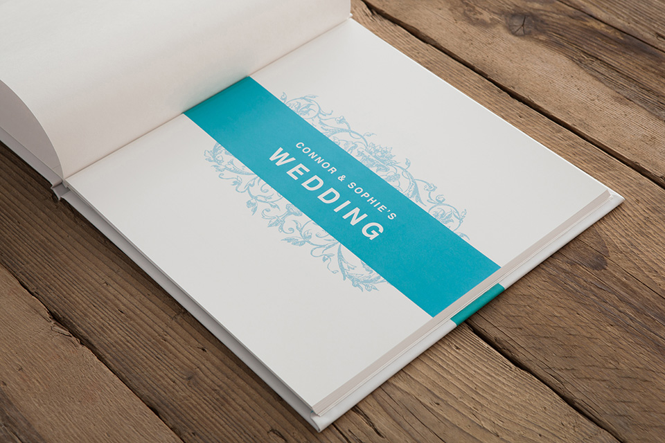Wedding Guest Book Loxley Colour