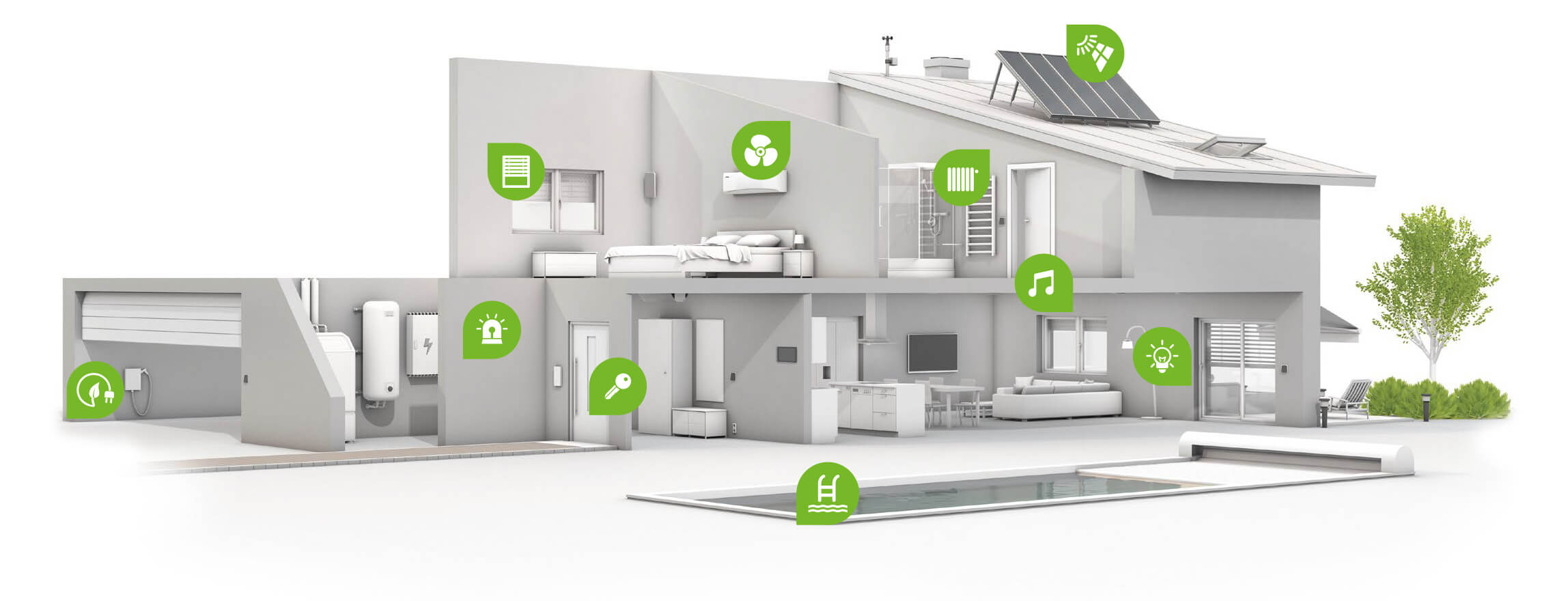 Smart Home Beleuchtung True Home Automation With Loxone Smart Home Products