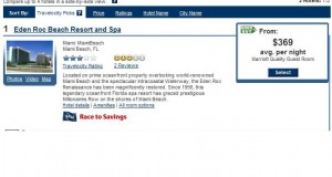 Travelocity Eden Roc Hotel Miami rate