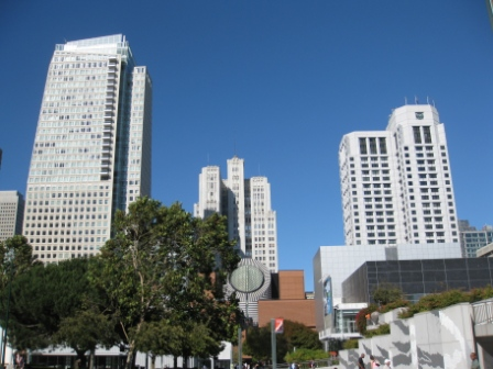 W San Francisco (right) and St. Regis Hotel (left)