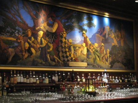 Maxfield Parrish painting in The Pied Piper bar at the Palace Hotel