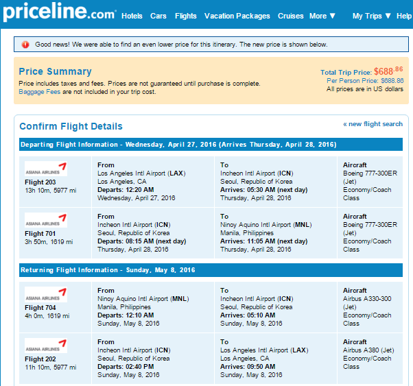Orbitz Japan Vacation Packages: Asiana $469 LAX To Manila March-April 2016