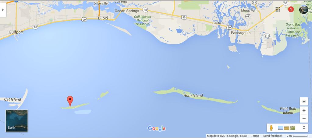 Map Of Ms Gulf Coast Islands