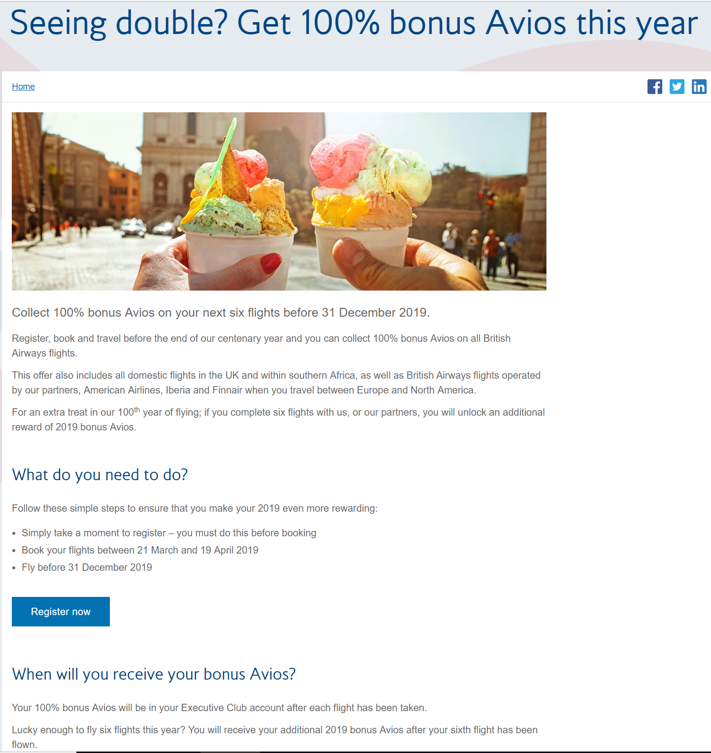 Miles And More Vs Avios British Airways 2x Avios For 2019 Flights Purchased By April 19