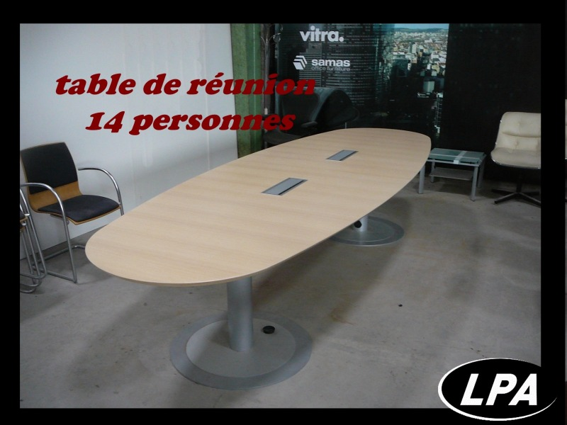 Table Chaise Pliante Table Ovale 12 Personnes - Table De Réunion - Mobilier De