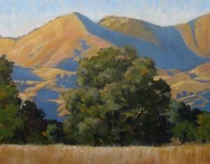 """""""Evening View Grass Mountain"""" Dotty Hawthorne, oil, 11"""" x 14"""" unframed, 19"""" x 22"""" framed $775"""