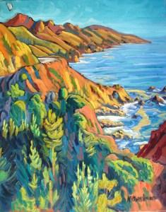"""""""Big Sur"""" Ken Christensen, 30″ x 24″ $2,900"""
