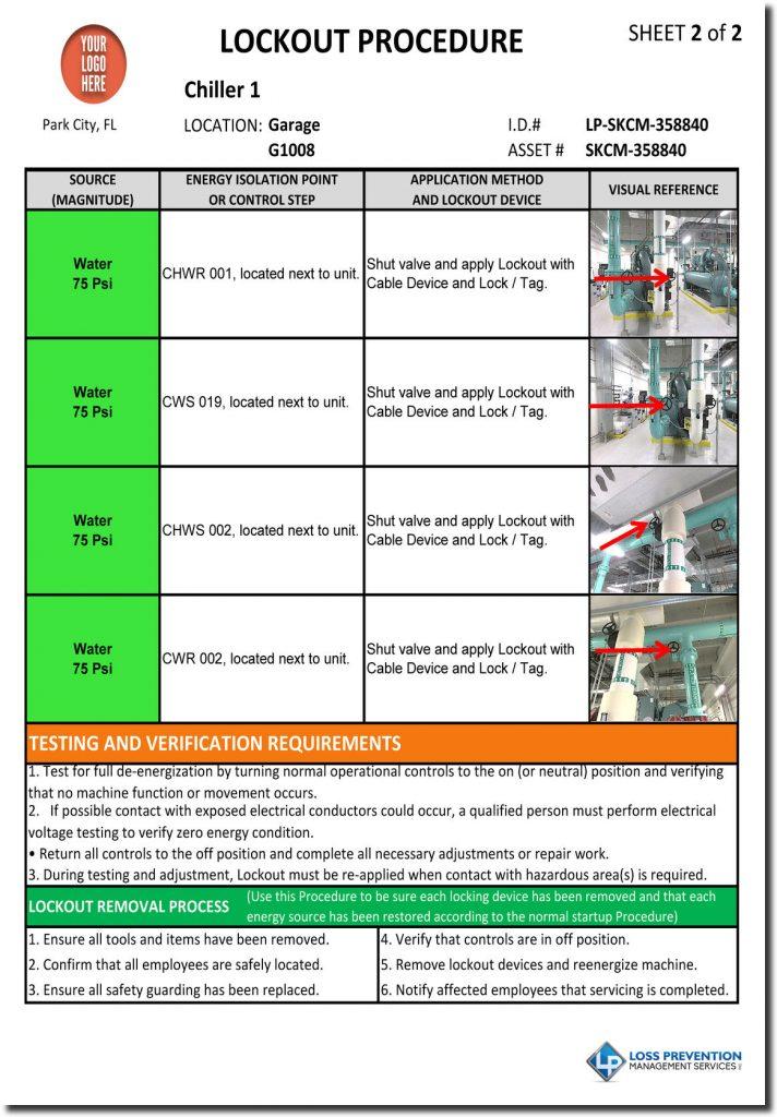 Lockout Tagout Procedure Development LP Management Services - method of procedure template