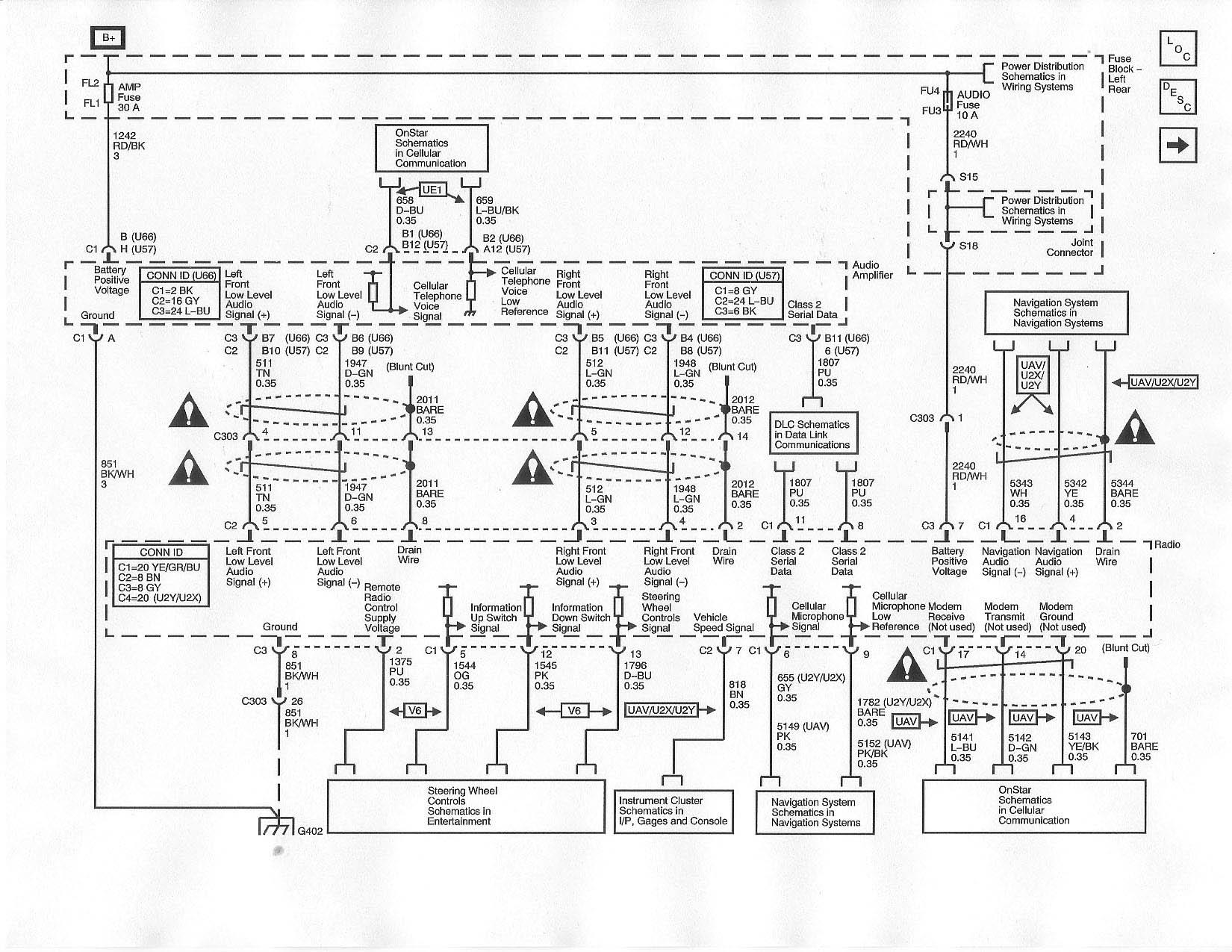 2007 cadillac escalade radio wiring diagram