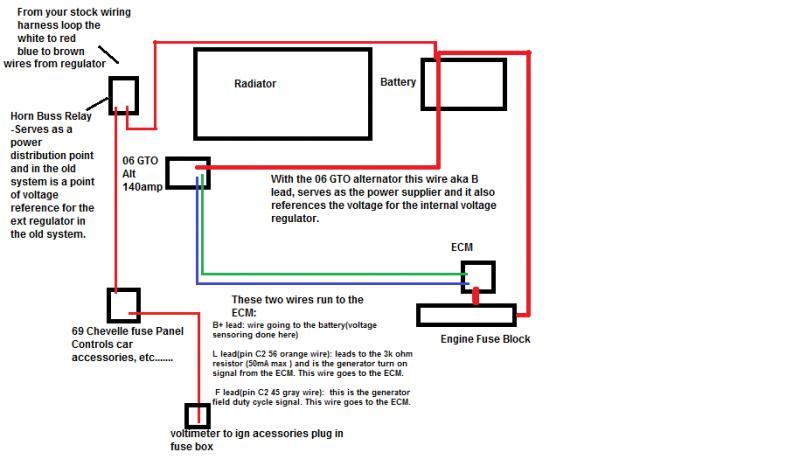 battery alternator wiring diagram for starter