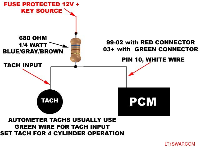 autometer memory tach wiring