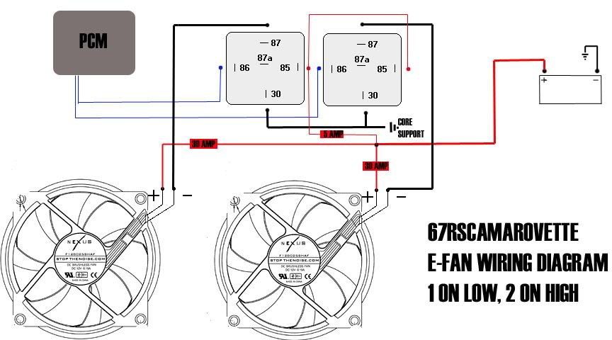 electric fan relay wiring diagram with pcm