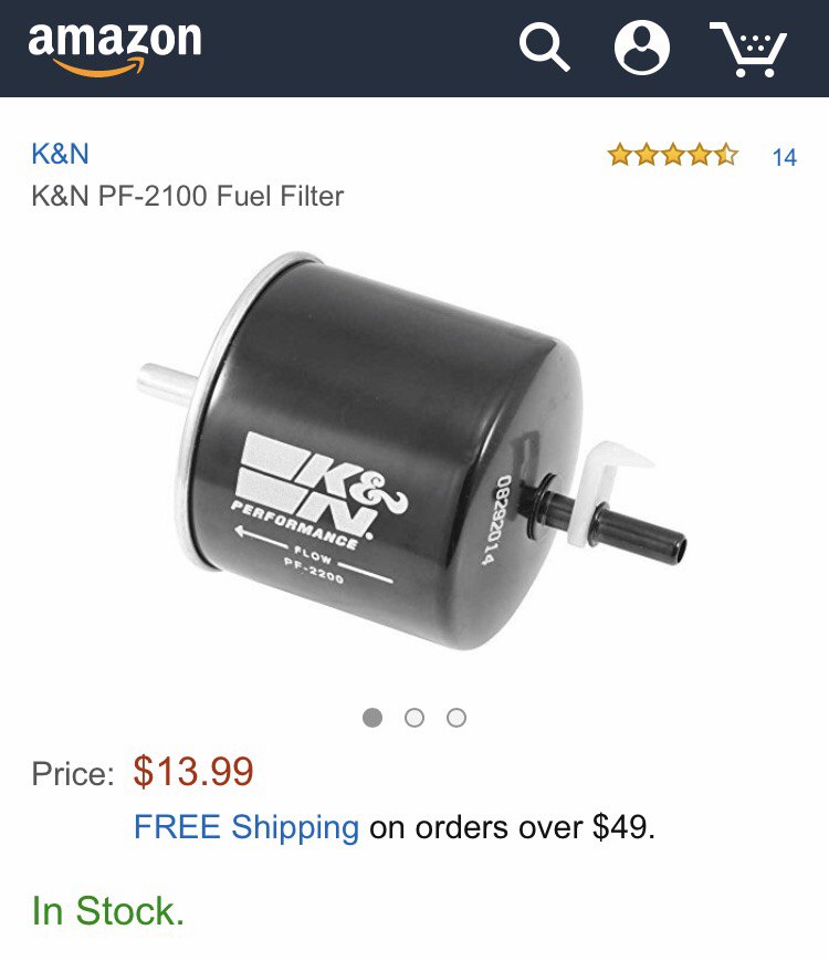 KN Fuel Filter PF-2100 - LS1TECH - Camaro and Firebird Forum Discussion