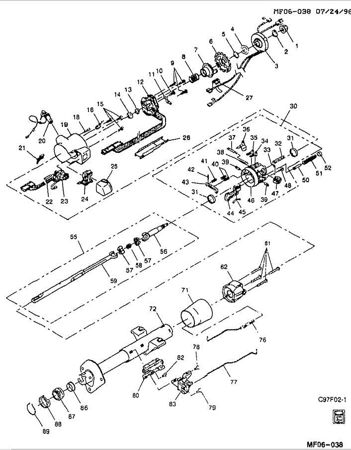 1970 gmc steering column wiring diagram schematic