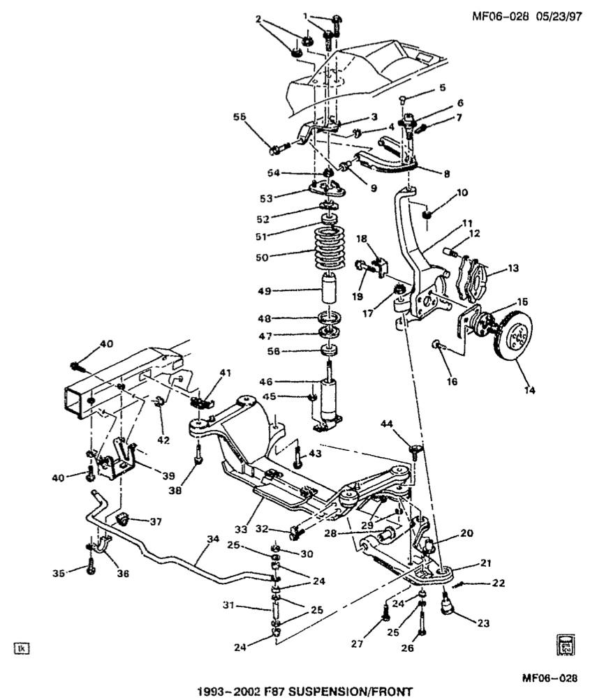 camaro strut diagram
