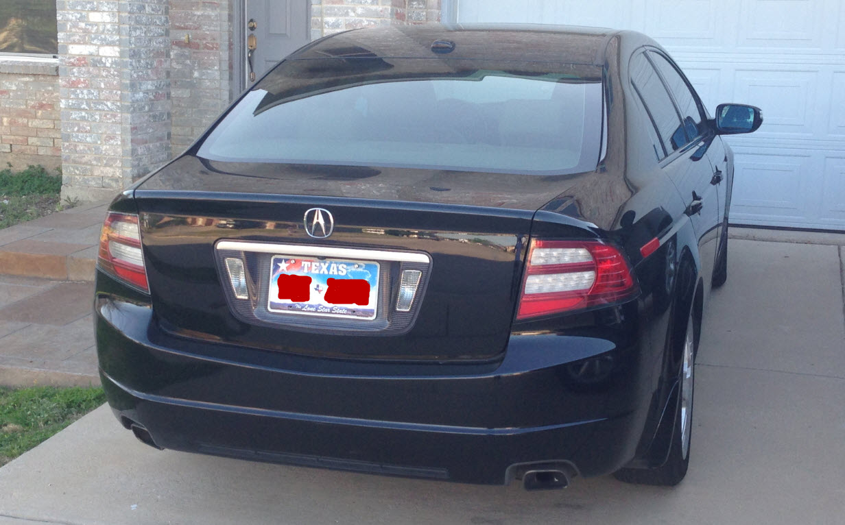black acura car