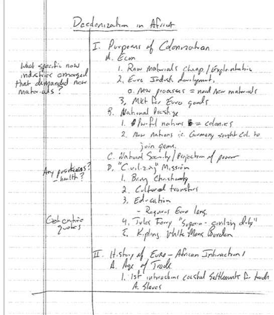 Developing Your Personal Note Taking Style U-M LSA Newnan Advising - note taking template microsoft word