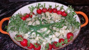 Green Garlic Tater Salad