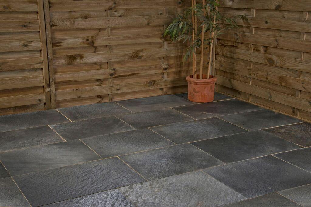 Castacrete Steel Grey Slate Patio Pack From Lsdcouk