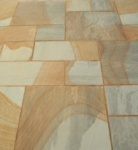Indian Sandstone Paving slabs, Two-Tone, Patio Pack ...