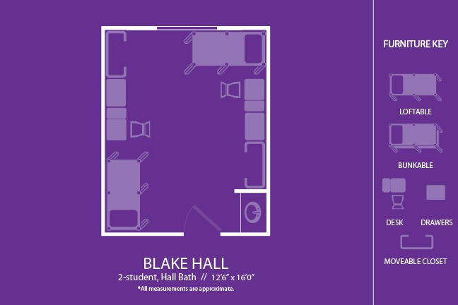 Housing Floor Plans Layout Blake Hall | Lsu Residential Life