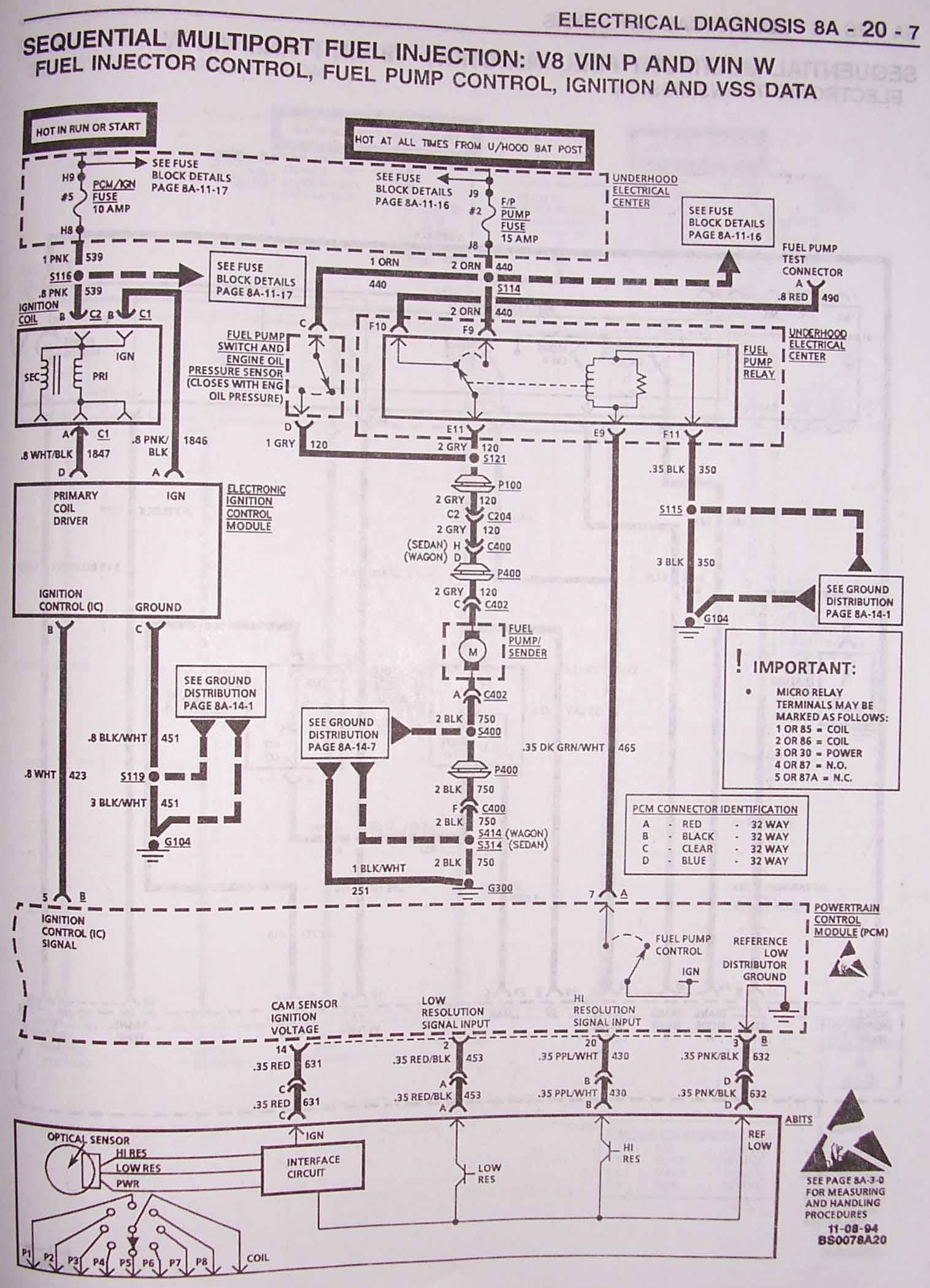 vss wiring 1995 chevy pickup