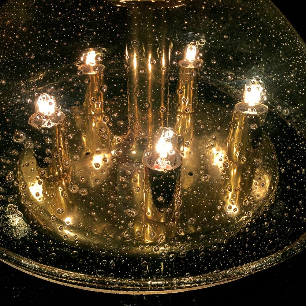 Plafonnier-applique Doria leuchten laiton et verre bulles 1960 chez ltgmood.com