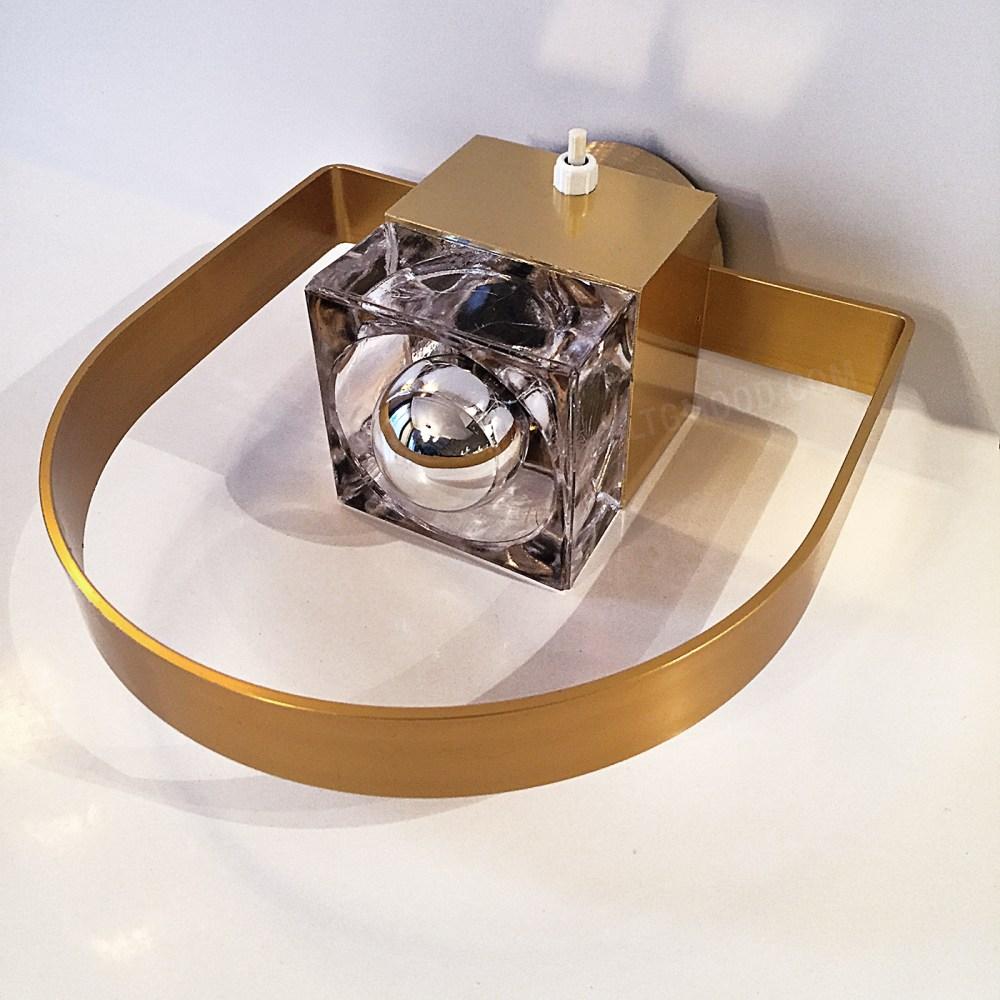 applique arc vintage dorée , verre poliarte par gaetano scolari en vente chez ltgmood.com galerie de luminaires vintage