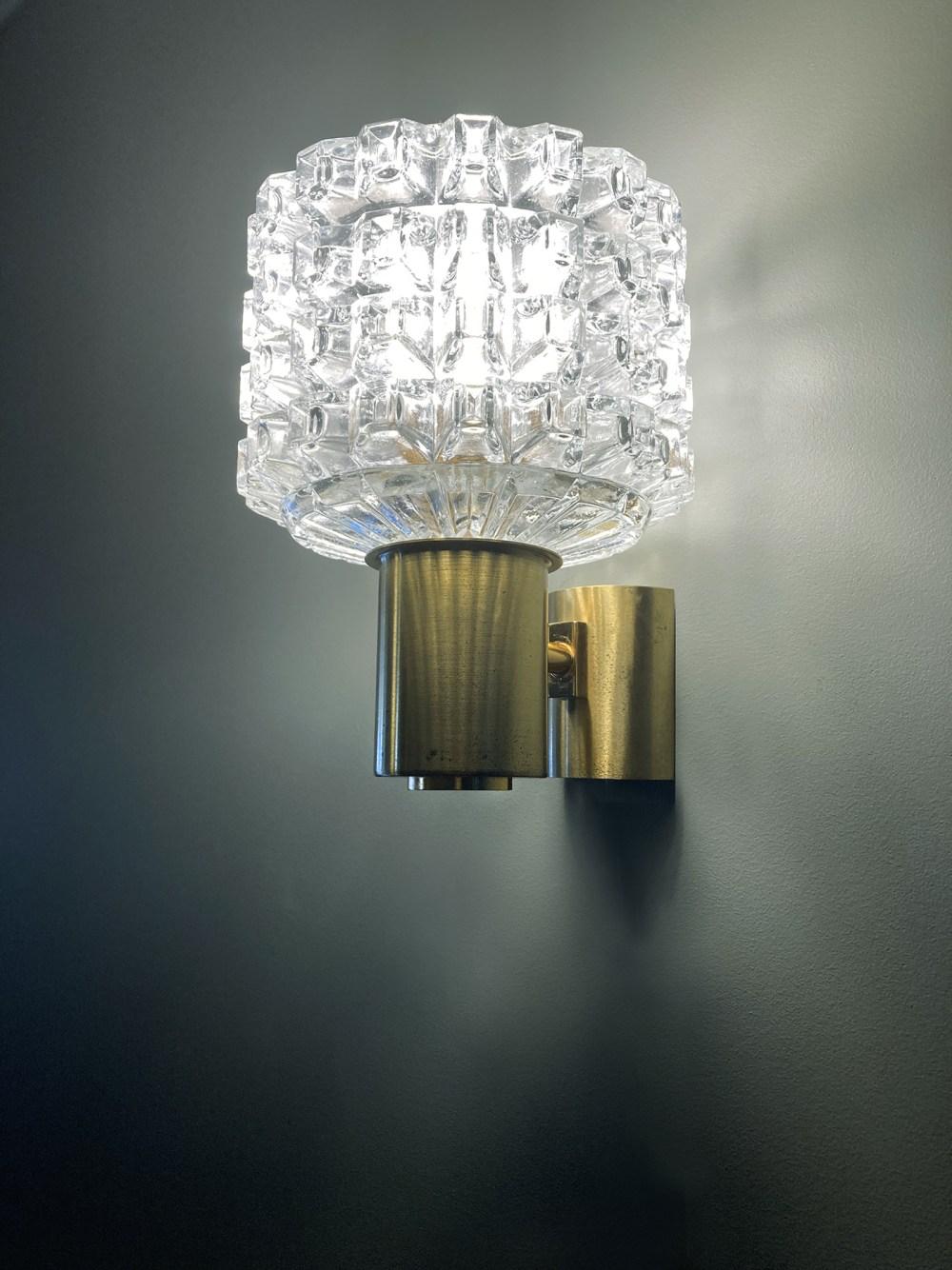 applique vintage en verre diamant 1960. luminaires vintage ltgmood.com