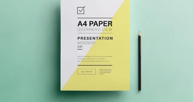 Wordpress Free Page Builder Psd A4 Overhead Paper Mock Up Responsive Joomla And