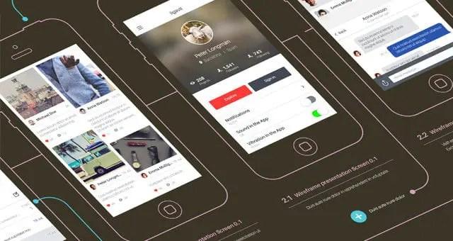 Psd Wireframe App Showcase Mockup