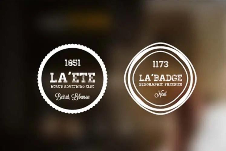 Realistic Vintage Logo Templates PSD