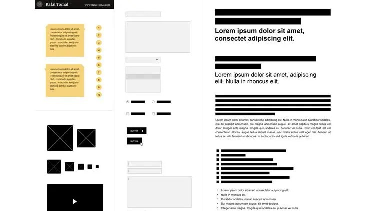 15 Web Free Wireframe Templates - wireframe templates