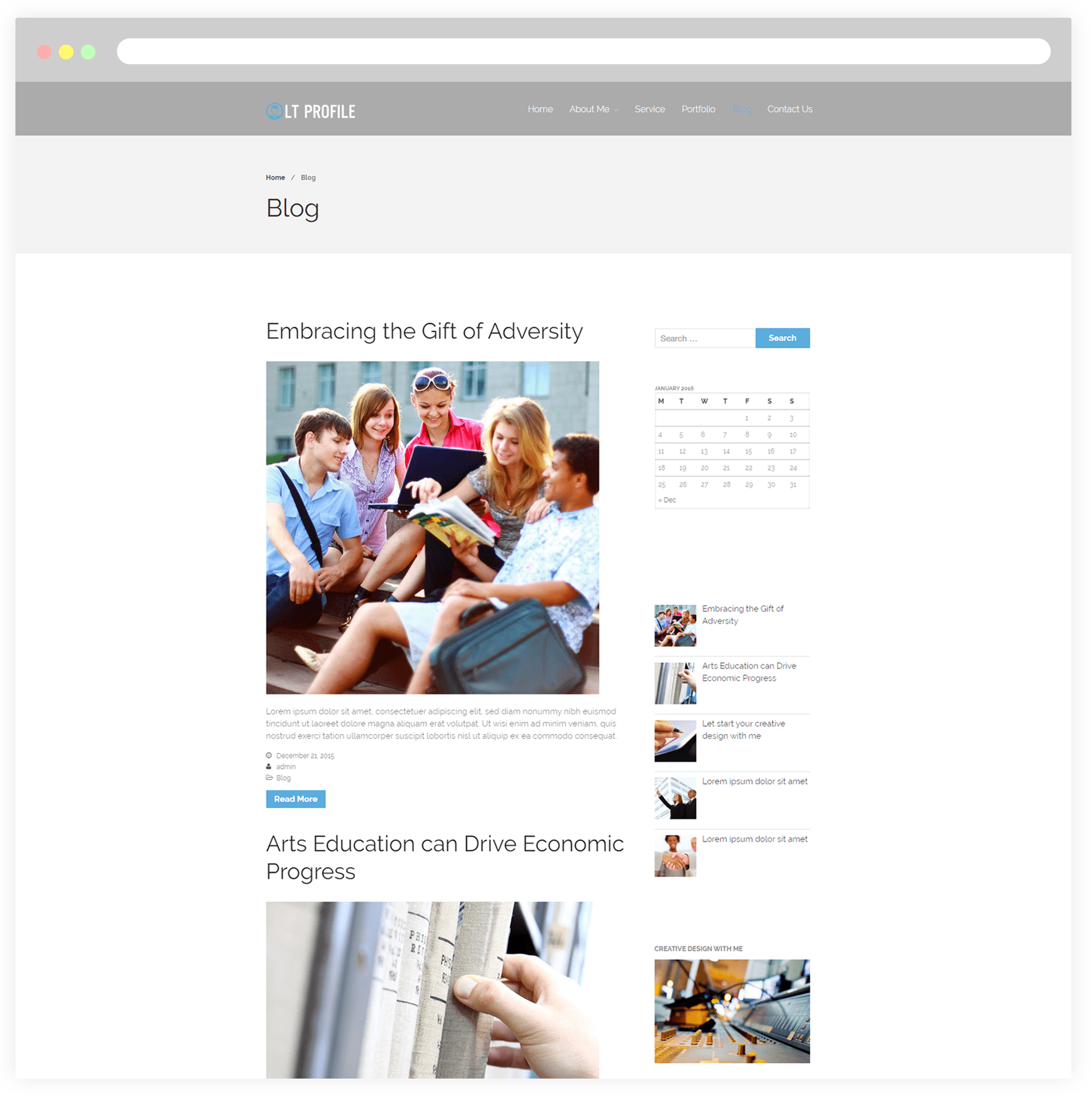 wordpress theme cv free